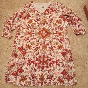 NWT! Old Navy cream printed shift dress